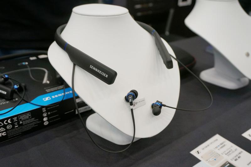 ↑ゼンハイザーはスタンダードクラスのネックバンド型Bluetoothイヤホン「CX 7.00BT」を出展