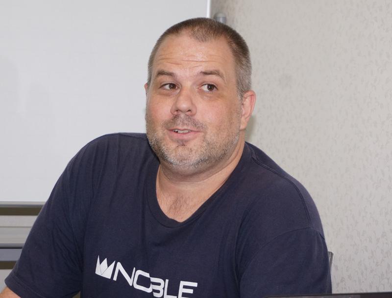↑Noble Audioのジョン・モールトン氏も来日。製品の魅力を解説した