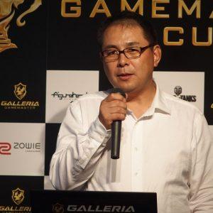 ↑eスポーツを楽しむ場を提供したいと語るサードウェーブデジノス 取締役社長 田中基文氏