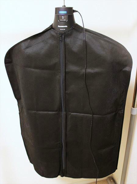 ↑衣類用カバーをかけて、残りの3時間を運転しました。ナノイーが衣類全体を包み込んでくれるから、効果もアップしそう