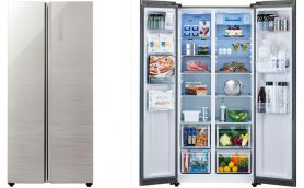 そのスタイル、欧米か! アクアから庫内が一目で見渡せるサイド・バイ・サイドの冷凍冷蔵庫