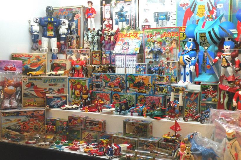 ↑会場内には、アニメ放送時に発売されていたなつかしい玩具も登場! ディテールにこだわったタツノコプロらしいデザインが楽しめる