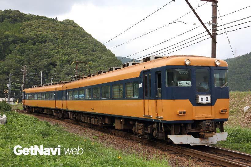 ↑16000系は元近畿日本鉄道の南大阪線を走っていた車両。大井川鐵道では普通電車として走っている