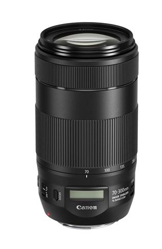 ↑キヤノン EF70〜300mm F4-5.6 IS II USM(参考価格/6万350円)。ステッピングモーター採用レンズのほか、超音波モーター採用レンズでも、最近のものは、動画撮影に対応したものが多くなっている