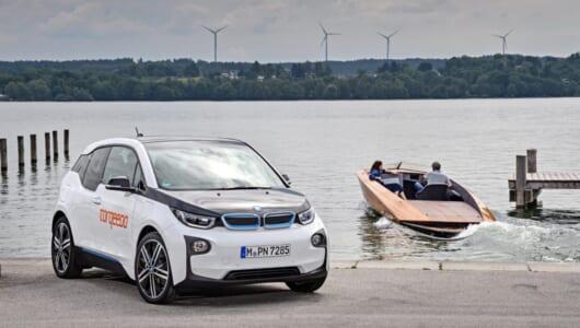 BMWの電気自動車「i3」は洋上でも活躍? 自慢の大容量バッテリーがマリンシステムとドッキング!
