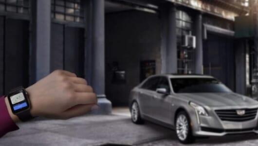 キャデラックがアップル・ウォッチで操作可能に! エンジンの始動・停止やドアロックにも対応