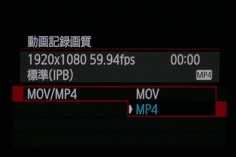 ↑MP4とMOV、MP4とAVCHDなど2~3種類の記録方式を採用した機種が多い