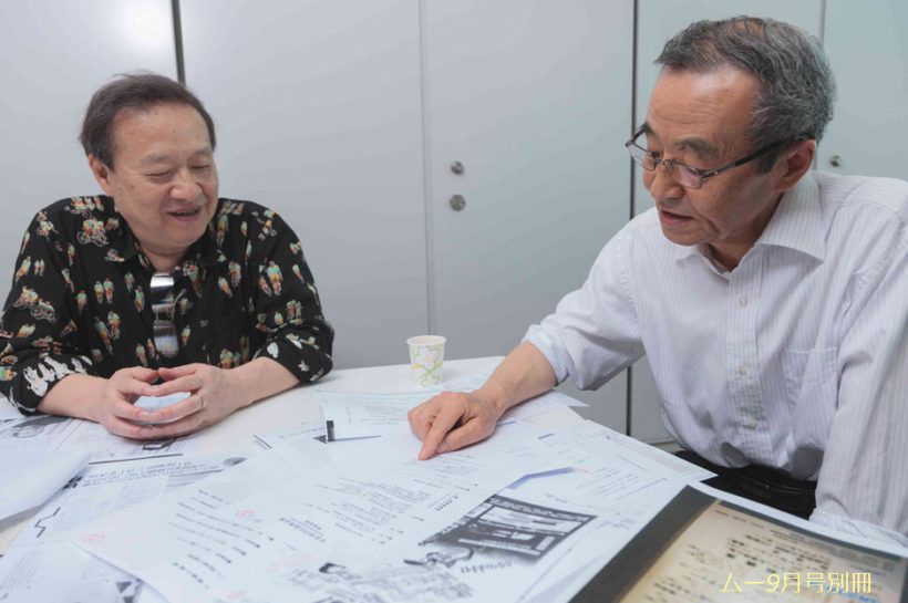 韮澤潤一郎氏(右)と、並木伸一郎氏(左)。