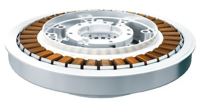 ↑「S-DDモーター」イメージ。騒音の原因となるギアやベルトがなく、運転音や振動が抑制できます