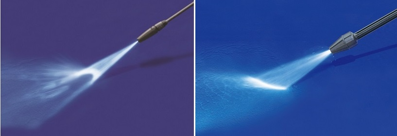 ↑ターボランス(左)と広角変圧ランス(右)