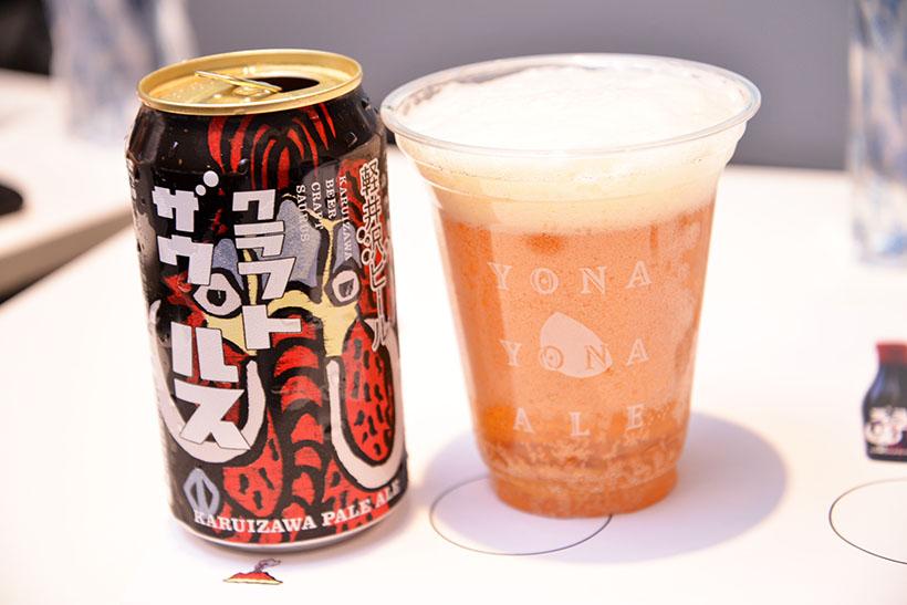 ↑こちらが新作ペールエール。缶のデザインもヤッホーらしくポップで独創的です