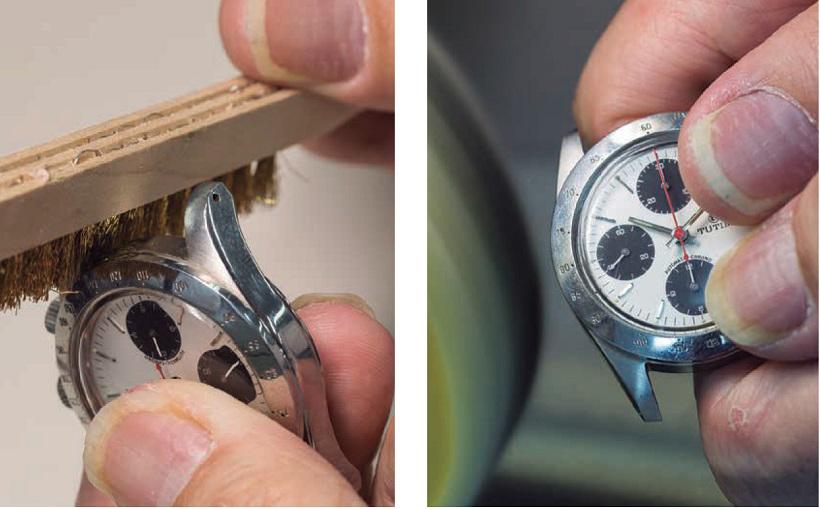 ↑修理費用の目安としては約1万5000円~ケース研磨が行える。期間は約2、3週間が目安