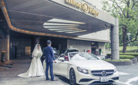 メルセデスとともに上質なホテルウェディングを――成約日から挙式当日まで乗り放題!?