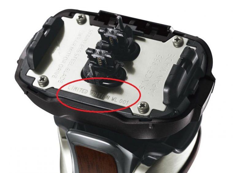 ↑本体ヘッド内ステンレスパネル部にシリアルナンバーを刻印