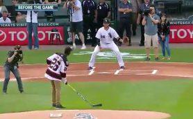 地味にすごい! MLBで「ホッケーによる始球式」が行われる