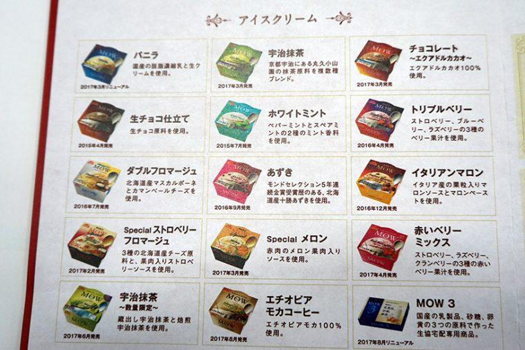 ↑使うのはこれまでに発売された15種類のMOW