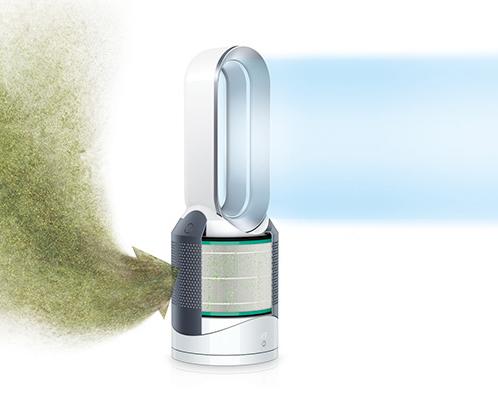 ↑空気中の微粒子や有毒ガスを吸い込み、キレイな空気にして