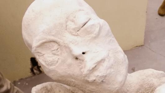 【ムー宇宙人情報】石膏像でしょ…いや、骨格がある! ナスカ文明の地下墓地から異星人のミイラを発見