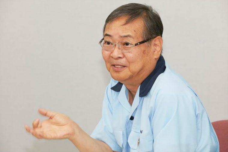 ↑ダイニチ工業代表取締役社長の吉井久夫さん。1973年に電気関係の専門家としてダイニチ工業に入社。1999年に代表取締役社長に就任