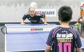 こんなに面白いとは! ヘディングで卓球をするニュースポーツ「ヘディス」がアツい