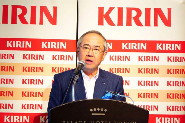 ↑キリンホールディングス 代表取締役社長・磯崎功典氏