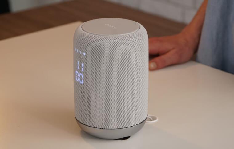 ↑ソニー初のGoogle Assistantを搭載するスマートスピーカー「LF-S50G」