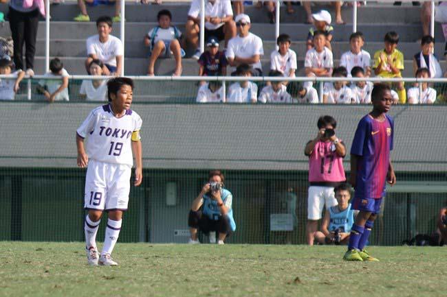 同点ゴールでバルサを脅かした東京都 U-12の吉荒 開仁選手。