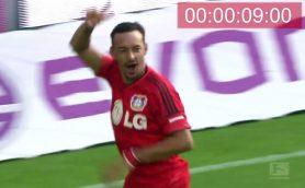 桐生の日本新よりちょっと早い! 「9秒台」で決まったサッカーのゴール集