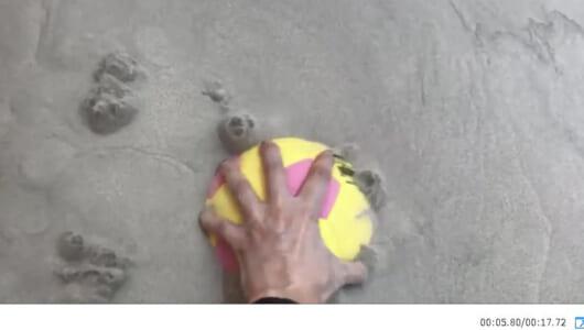 【パピコ「なめらカヌ~」】最先端エンタメ技術「砂の海」を体験してみたら想像以上にスーイスイ!