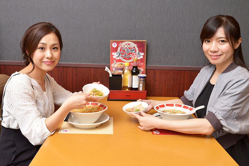 ↑シェアしながら食べ比べるのが全麺制覇の近道!