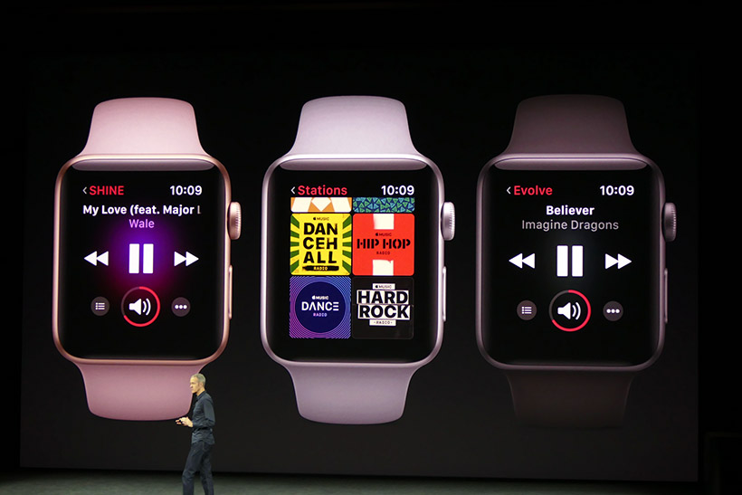 ↑Apple Musicで実質4000万曲をどこでも聴けるように