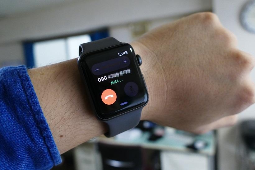 ↑Apple Watchから発信することもできる