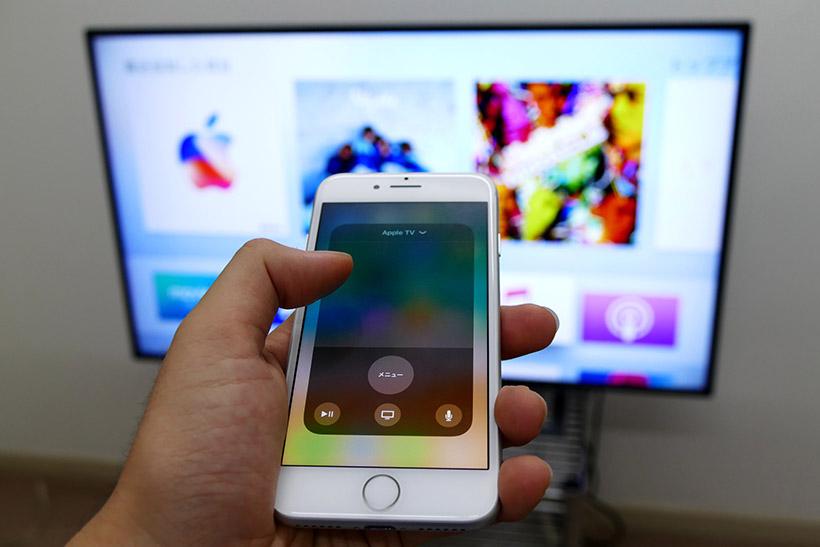 ↑iPhoneがリモコンになる