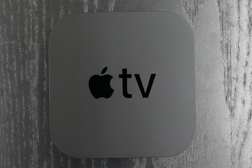 ↑Apple TV 4K の本体上面