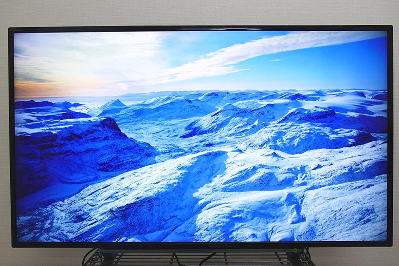 ↑スクリーンセーバーも4K 画質で楽しめる