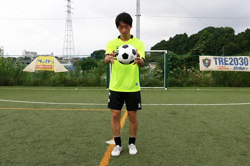 ↑戻ってきたボールをキャッチ