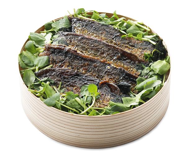 ↑うるめ鰯とクレソンの蒲焼き飯/1200円(税抜)