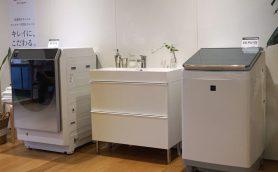 シャープの洗濯機がやたらと格好いい! サニタリールームはキレイな家事室へ