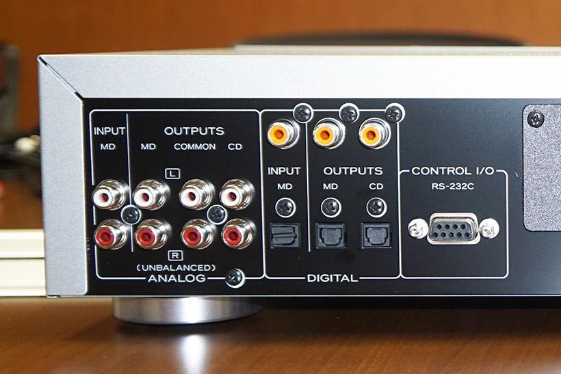 ↑MD-70CDの背面