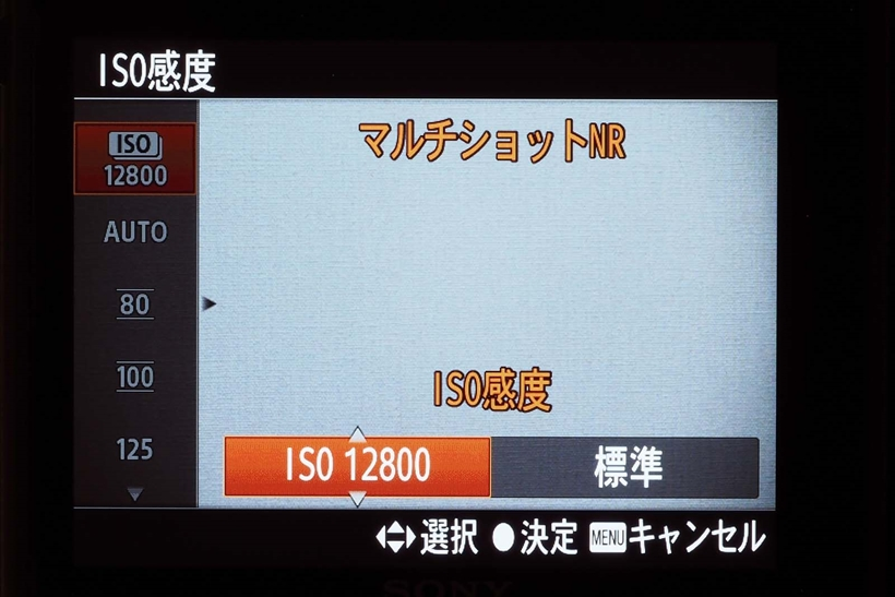 ↑RX100シリーズには、通常の高感度撮影のほか、連写した画像を自動合成するマルチショットノイズリダクションを装備。高感度でもノイズが目立たない。動く被写体を撮る場合にも使用可能だ