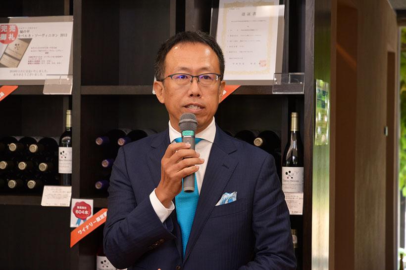 ↑マスター・オブ・ワインの大橋健一さん