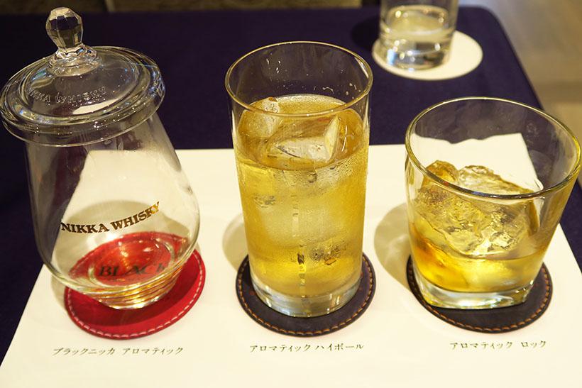 ↑「香りに出逢うグラス」を使えば、ウイスキーの味だけでなく香りもしっかり楽しめます