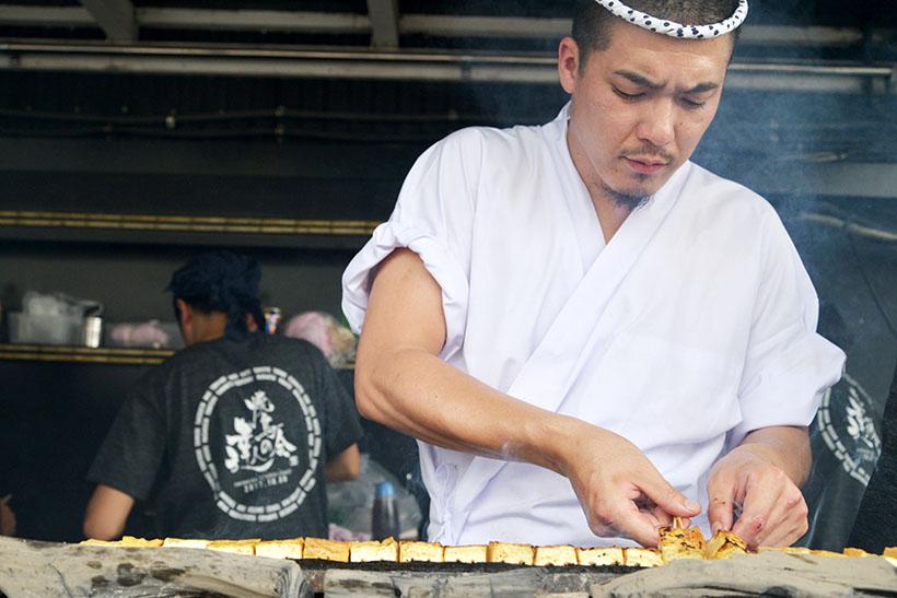 ↑野菜焼の担当は「鳥かど」(目黒)の小野田さん。先述の「鳥しき」から唯一のれん分けを受けた料理人です