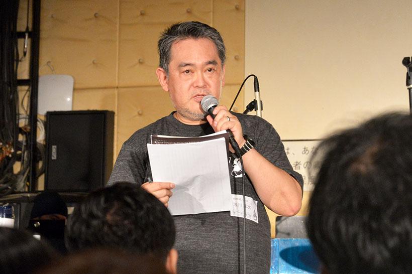 ↑実行委員の一人、浅川真次さん
