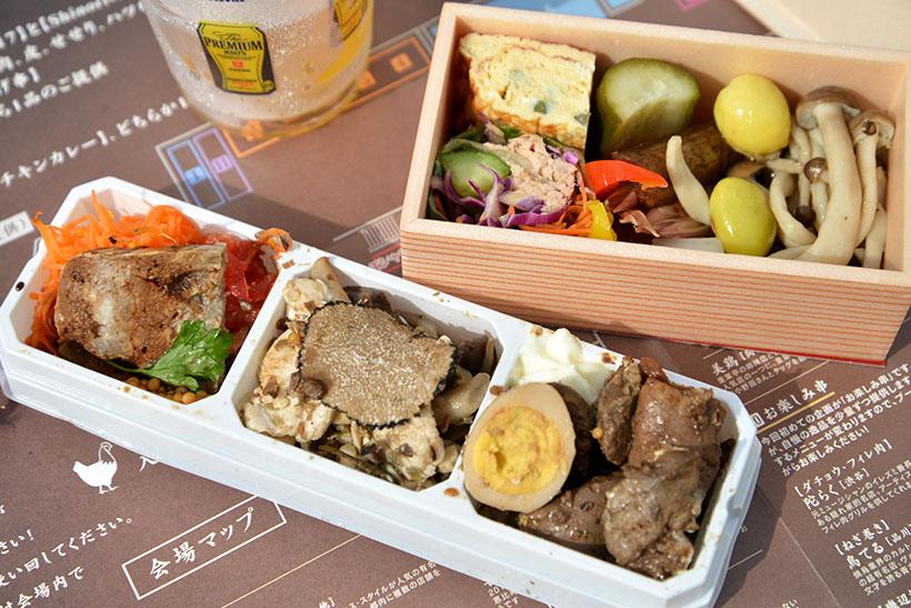 ↑逸品料理。「瀧口」(泉岳寺)と「Shinori」(武蔵小山)による、前菜にピッタリのBOX2種