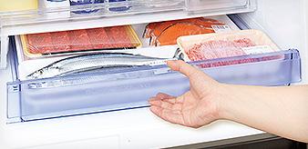 ↑お肉は約7日間、お刺身は約3日間も鮮度が維持できます