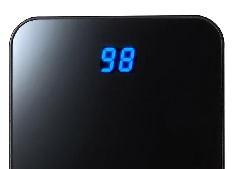 ↑電池の残量がデジタル表示されます