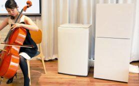 庶民の味方ツインバード、大型白物家電に本格参入! チェロの調べに乗せ「10分洗濯機」「ハーフ&ハーフ冷蔵庫」をリリース