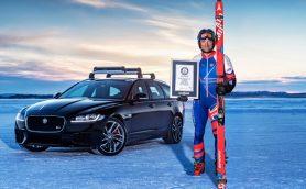 ジャガーと元オリンピック選手がギネス記録を達成! 貢献したのはXFスポーツブレーク