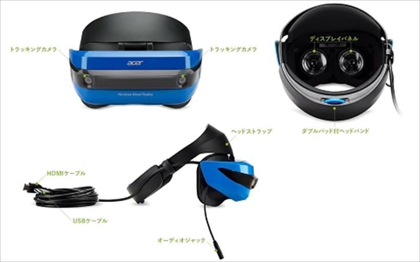 ↑ヘッドセットの眼幅調整はソフトウェアで行う